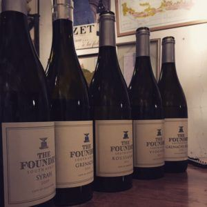 Line up of Foundry wines