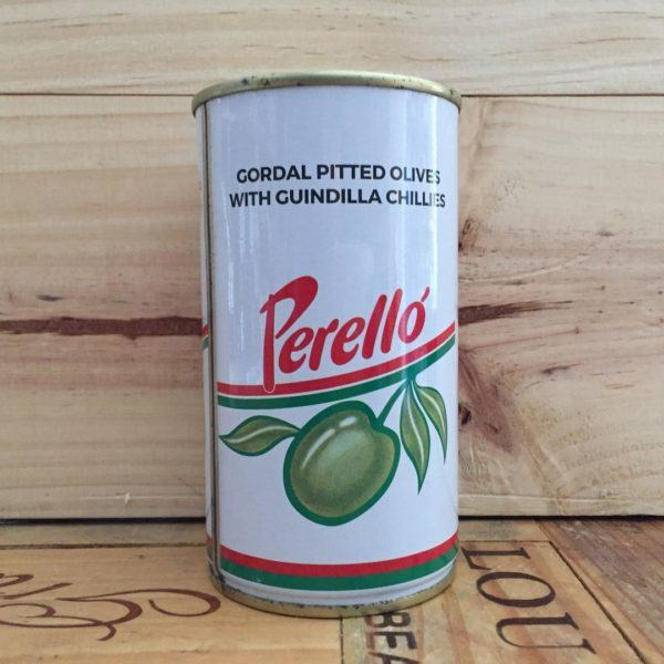 Perello Gordal Pitted Olives with Guindilla Chillies 350g