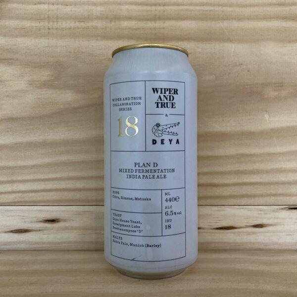 Wiper and True X Deya Plan D Mixed Fermentation IPA 440ml